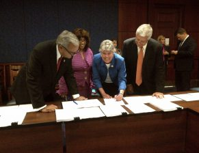 Brownley Signing VA Conference Agreement