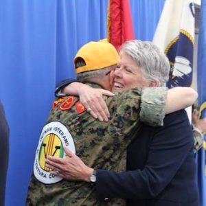 hugging vietnam veteran