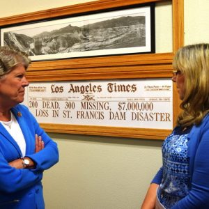 Brownley at Ventura County Museum's St. Francis Dam Disaster Exhibit