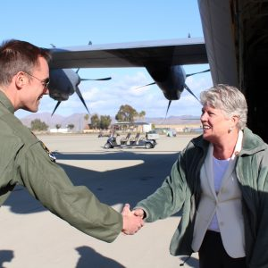 Brownley Meets with 146th Airlift Wing