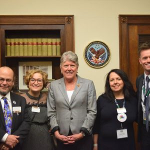 Brownley with Local Healthcare Research Funding Advocates