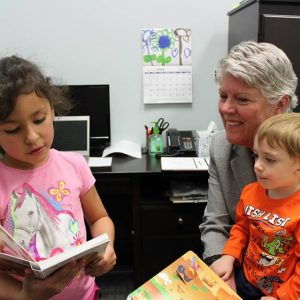 Brownley Reading to Students