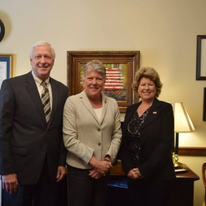 Brownley meeting with American Public Works members Mary Joyce Ivers and Ronald Calkin