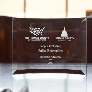 Humane Advocate Award from the Humane Society