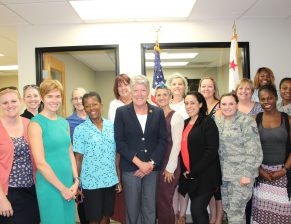 Congresswoman Julia Brownley w/veterans