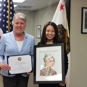 Brownley with Congressional Art Competition Winner, Annie Sun