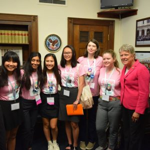 Brownley Meets with a Group of Teen Advisors Participating in the United Nations Foundation's Girl Up Program