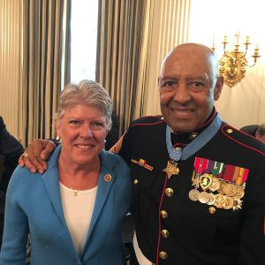 Brownley with Sergeant Major John Canley