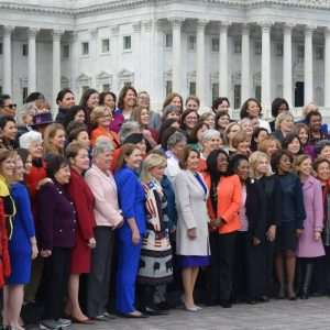 Brownley with the Female Members of the 116th Congress