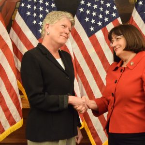 Brownley with Congresswoman Annie Kuster