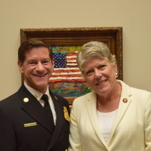 Brownley Attends State of the Union with Ventura County Fire Department Chief Mark Lorenzen