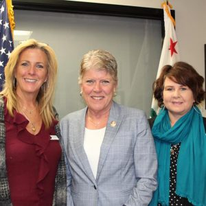 Brownley Meets with Paula Kemp and Suzanne Baeza with Veteran Sisters